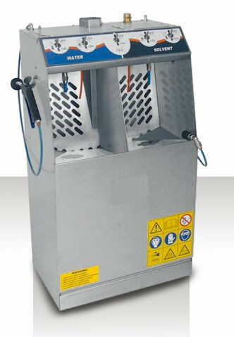 Dual Spray gun washers for both solvent and water based paints