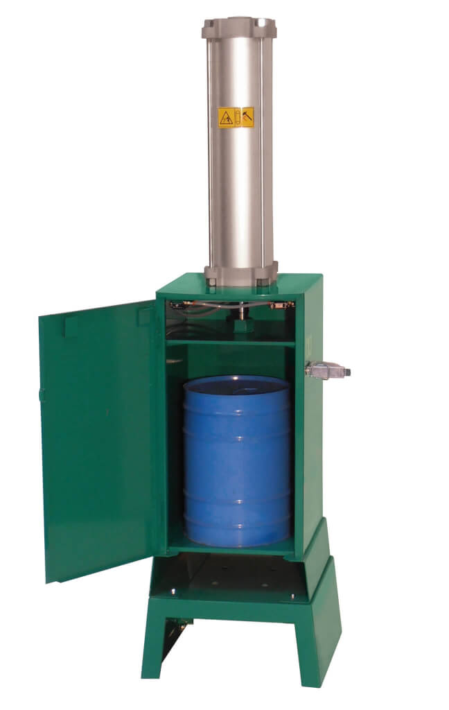 pneumatic can crusher 206