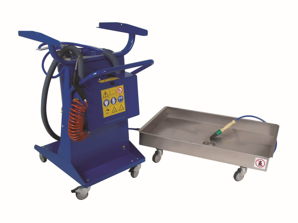 Mobile Brake and parts washer, removeable tray - 270V-2