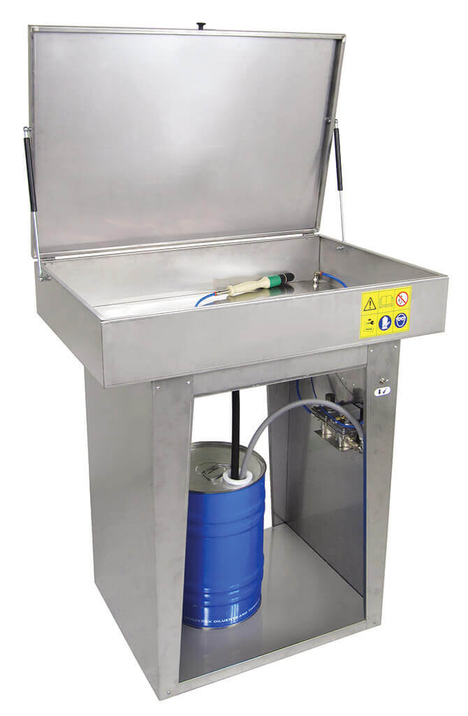 Economical Parts Washer with Water - Pneumatic - 525P