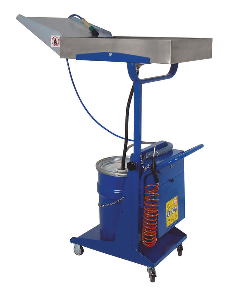 Mobile parts washer 521 telescopic wash tray