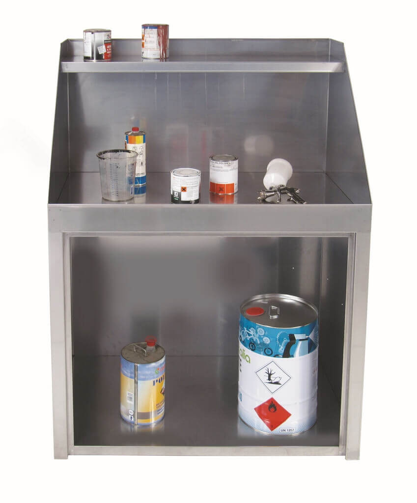 Stainless Steel Paint Cabinet, ATEX Certified with extraction - Model 250Ax