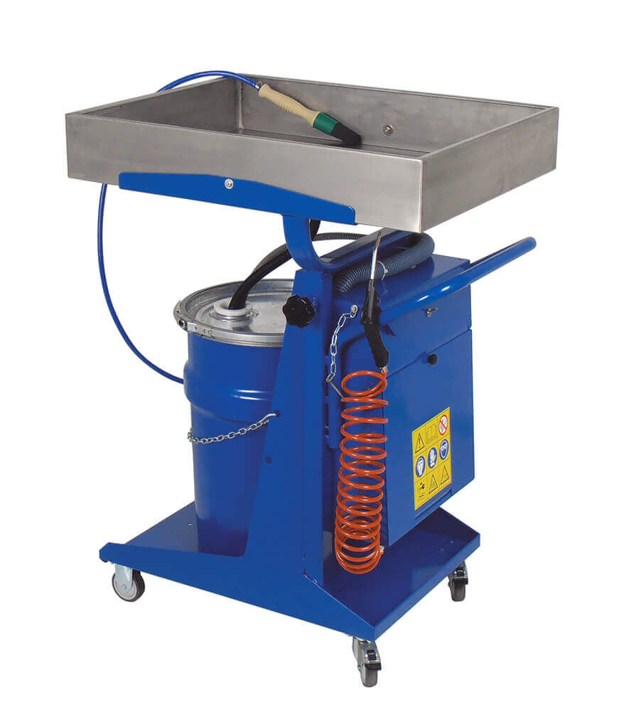 Parts Washer - Telescoping Trolley Brake and Parts Washer