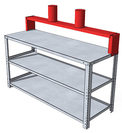 Stainless Paint Workbench - 255b ATEX Certified