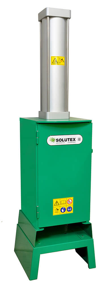 Pneumatic 30 litre Can and Drum crusher, ATEX Certified