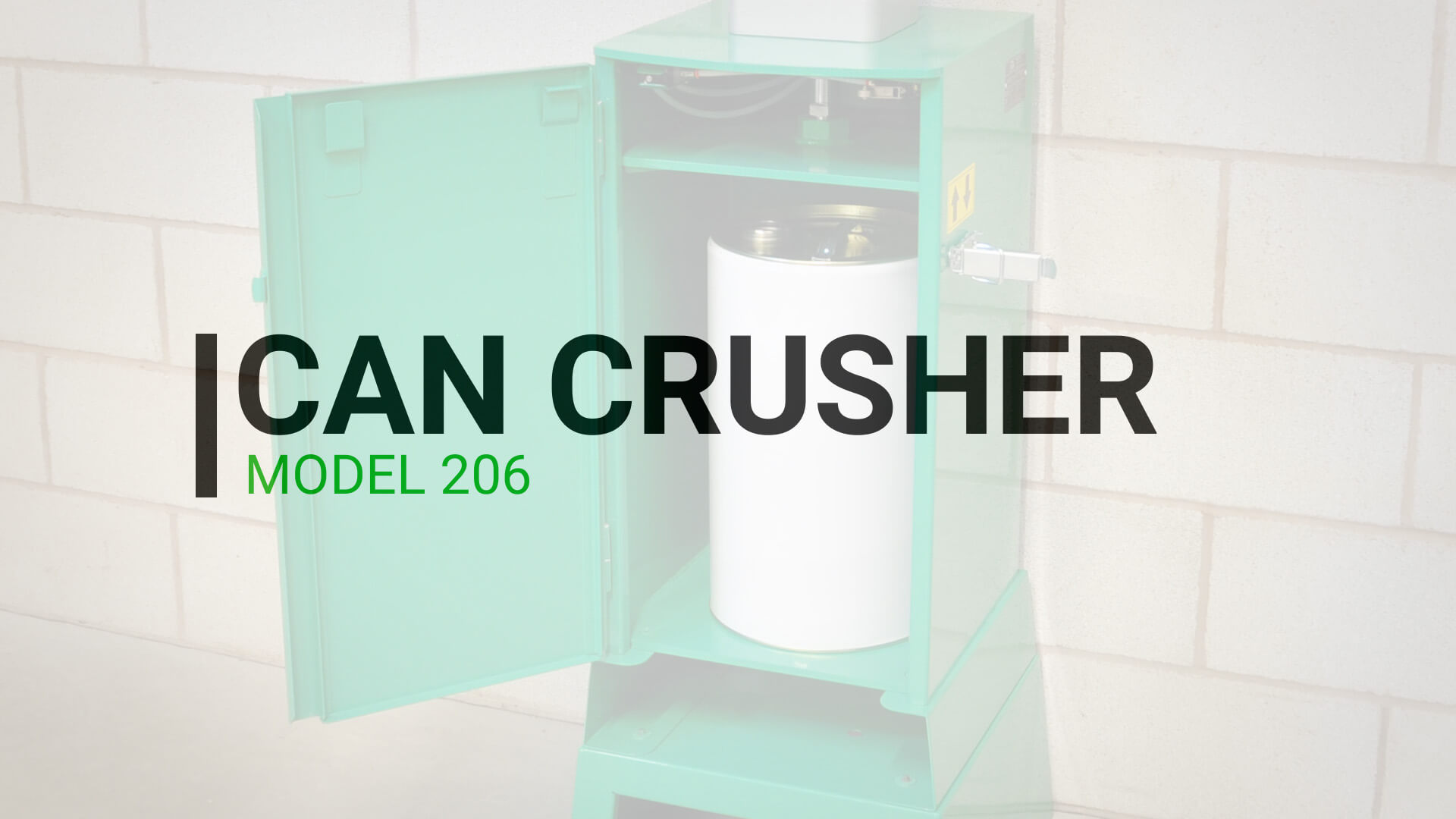 Can and Drum Crusher 30 litre ATEX certified pneumatic